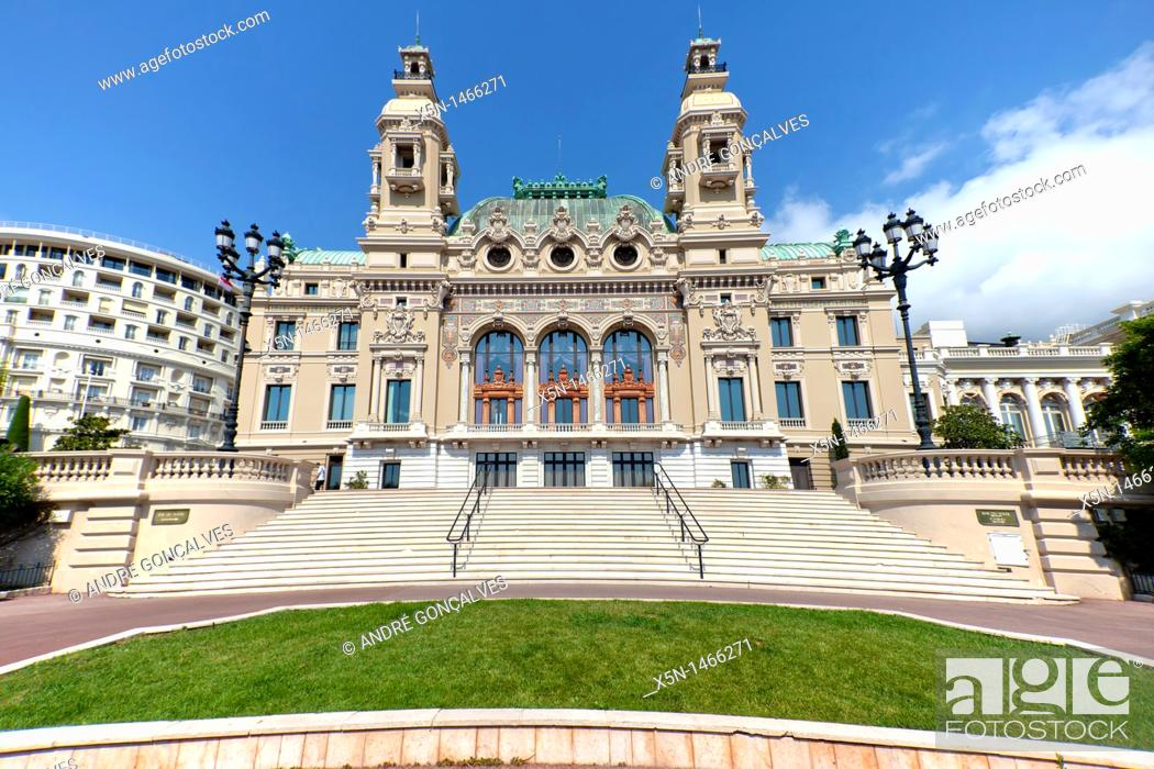 Stock Photo: Casino of Monte Carlos, Monaco.