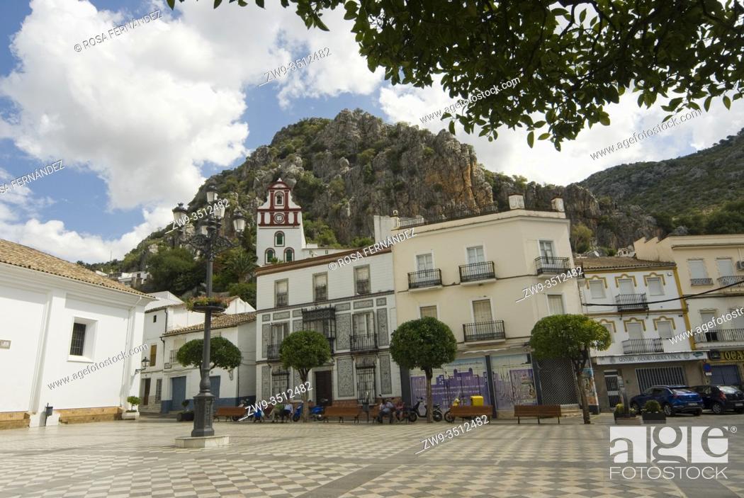 Photo de stock: Main square of Ubrique, Grazalema Range, province of Cadiz, Andalucia, Spain.