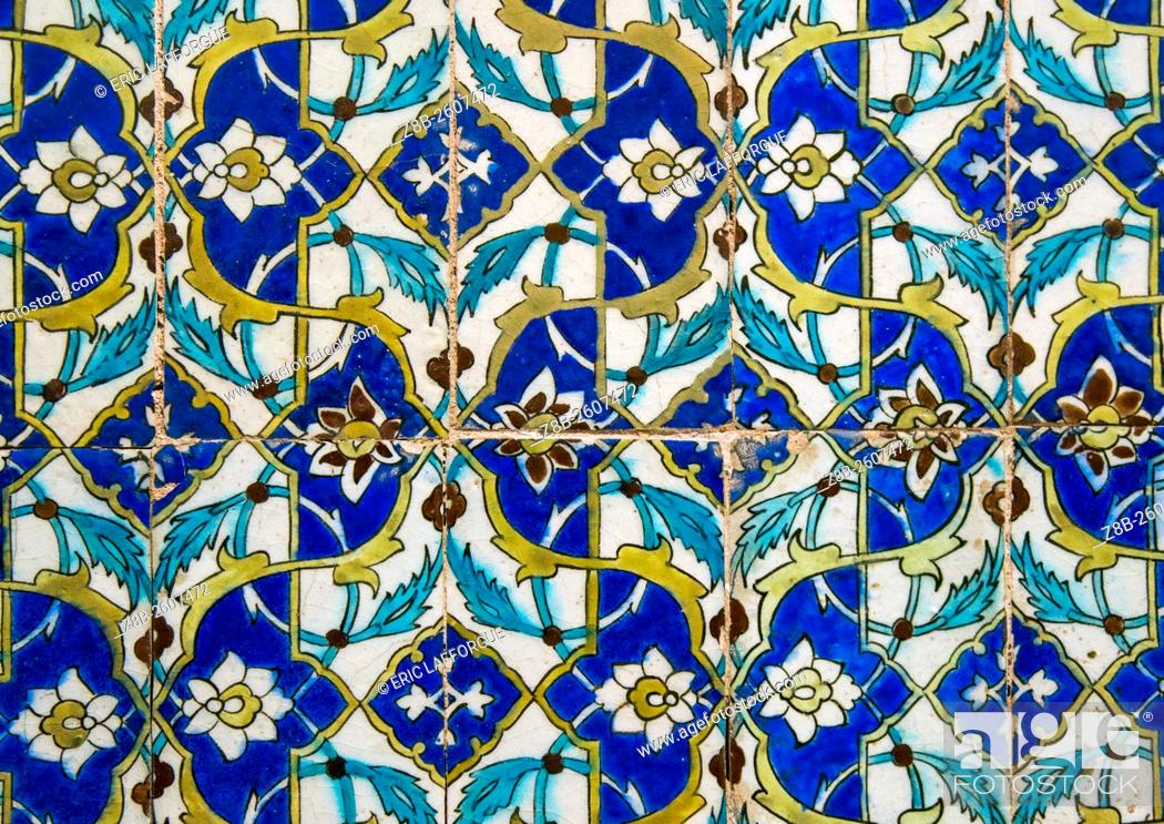 Iran Central County Kerman Mosaic Pattern With Ceramic Tiles In