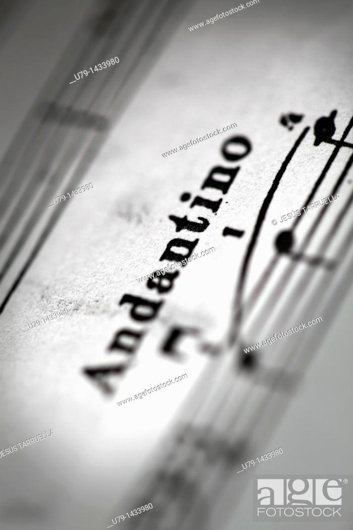 Stock Photo: Detail of a page of sheet music.