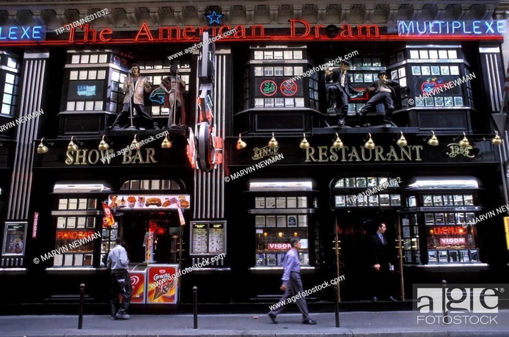 France, Île-de-France, Paris, American Dream Bar, Stock Photo ...