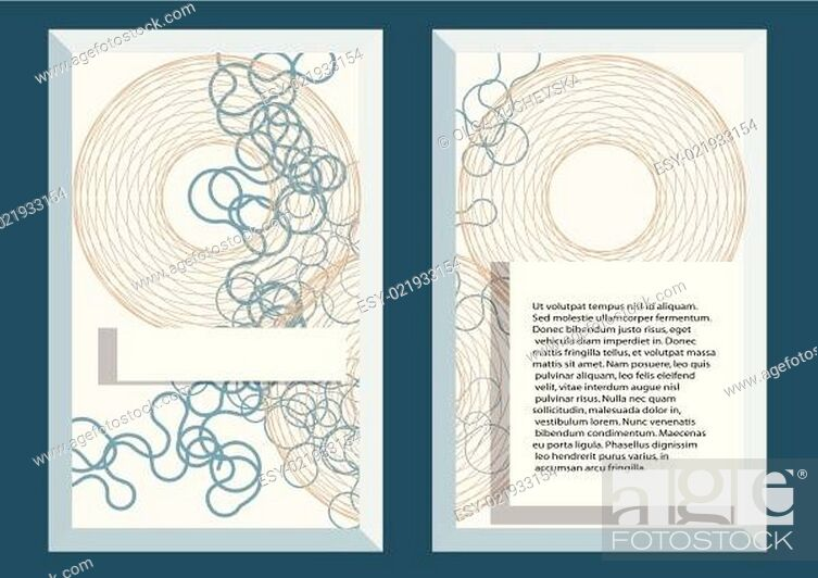 Stock Vector: abstract template5.