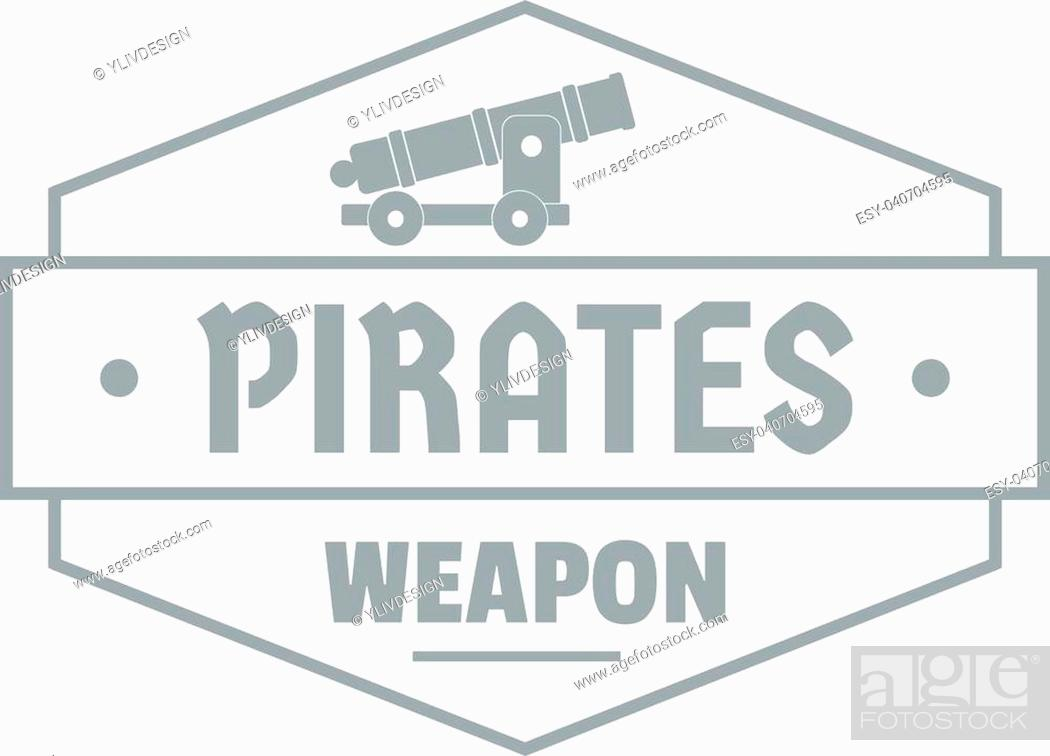 Stock Vector: Pirate cannon logo. Simple illustration of pirate cannon vector logo for web.