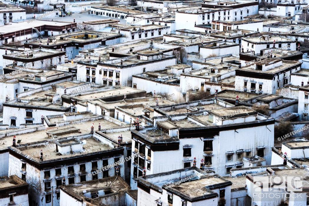 Imagen: Dwellings at Tashilhunpo Monastery, Shigatse, Tibet.