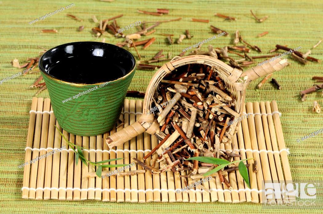 Stock Photo: Honeysuckle stalk tea (Lonicerae Caulis), Ren Dong Teng, honeysuckle stalk, honeysuckle stalk tea, honeysuckle stalk tea, honeysuckle stalk tea.