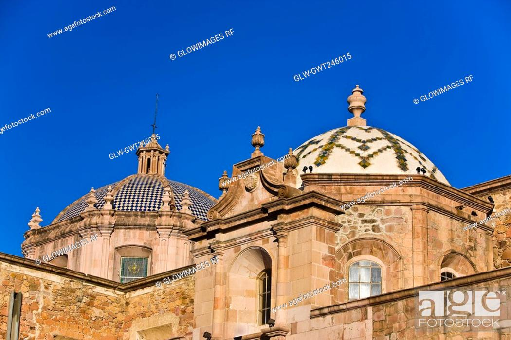 Stock Photo: Low angle view of a cathedral, Catedral De Aguascalientes, Aguascalientes, Mexico.