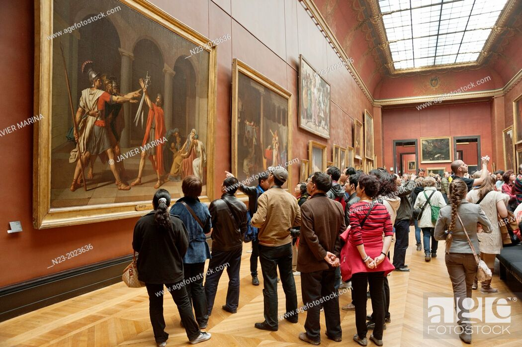 Stock Photo: Louvre Museum, Paris, France.