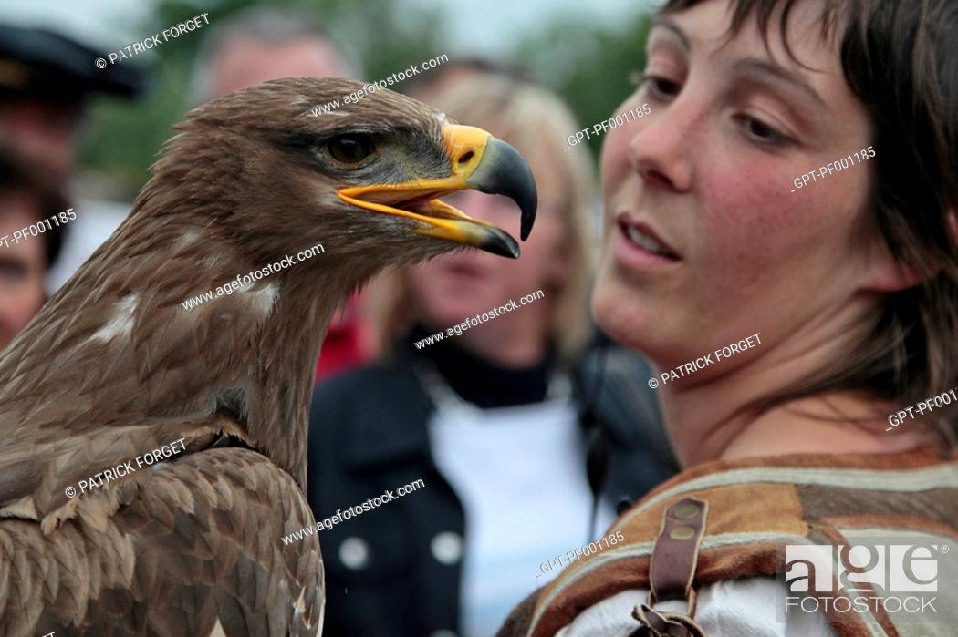 Steppe Eagle Falconry And Birds Of Prey Show Ceremony For The Return Of The Remains Of Diane De Stock Photo Picture And Rights Managed Image Pic Gpt Pf001185 Agefotostock