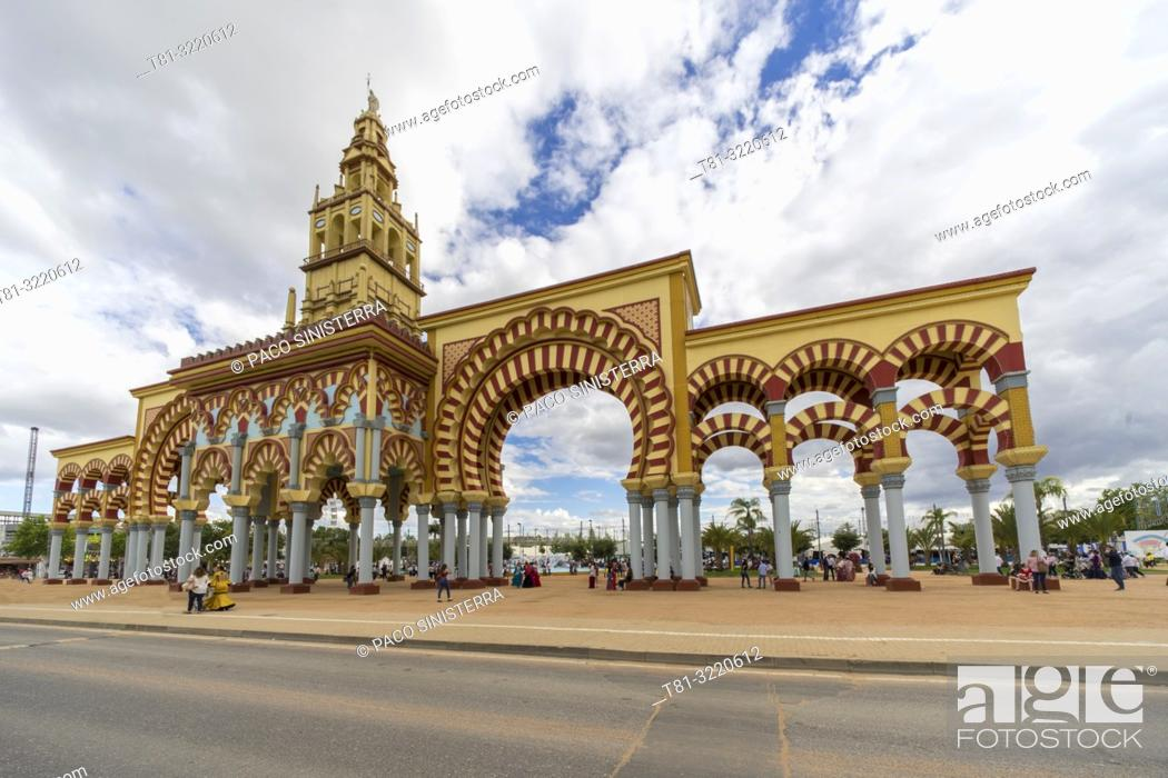 Stock Photo: Gate, Feria de Córdoba, Andalusia, Spain.