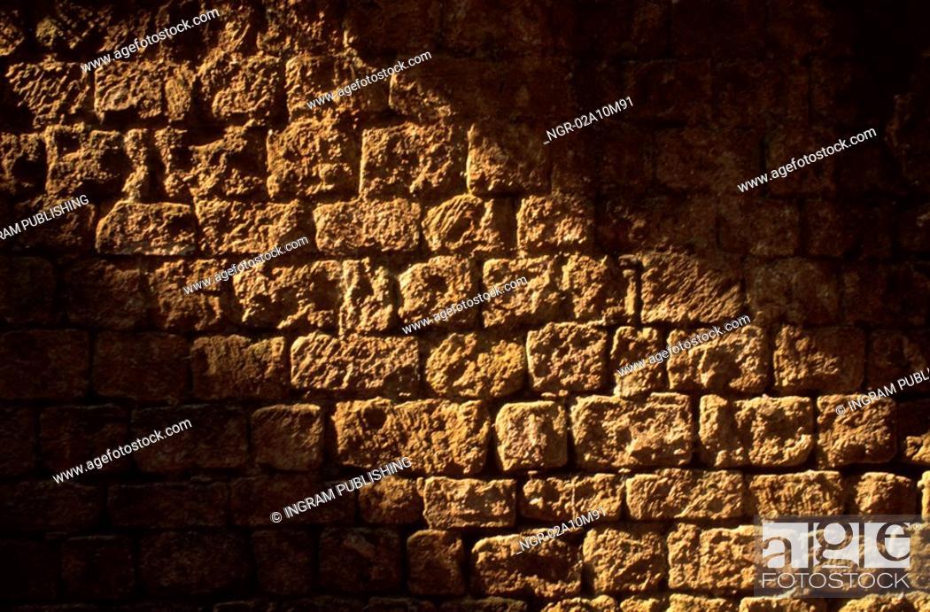 Stock Photo: Medieval Brick Walls.