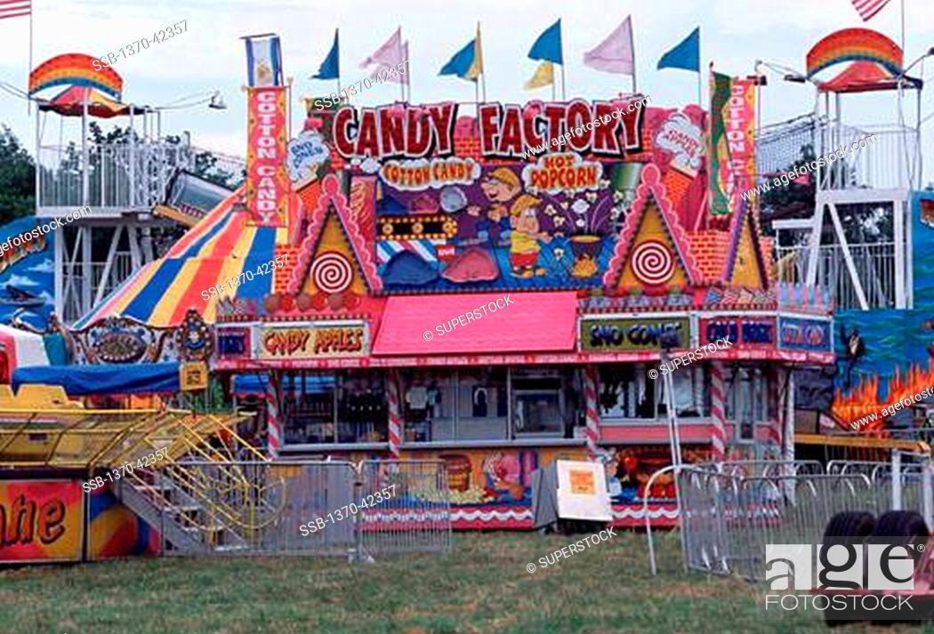 Stock Photo: Food stand at a carnival, Tennessee, USA.