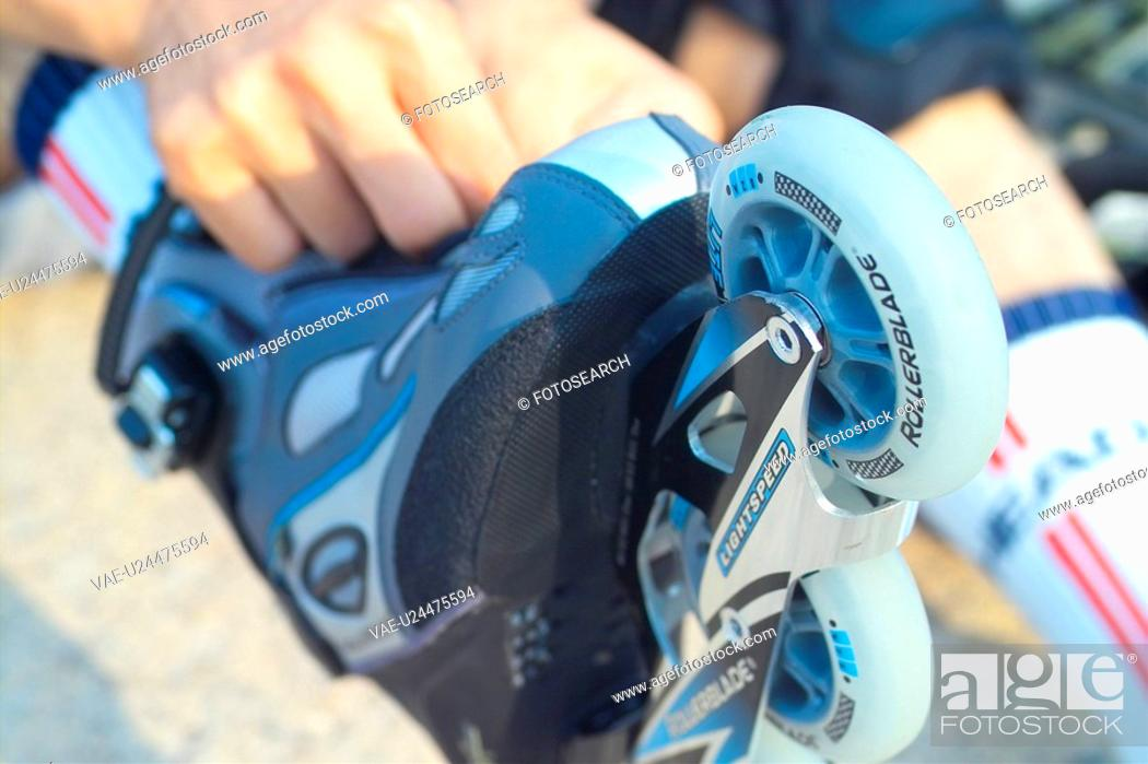 Stock Photo: recreation, rollerblading, leisure, lifestyle, rollerblade, skate.