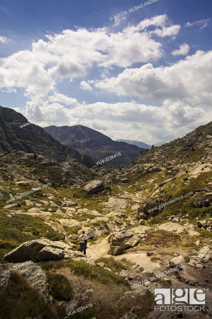 Stock Photo: Hiking paradise, Andorra is a perfect place in summer for hiking, a lot of rivers and lakes to discover.