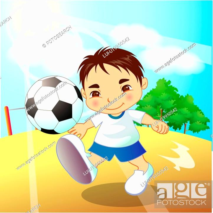 Stock Photo: sky, sports wear, playground, outdoors, gym suit, student.