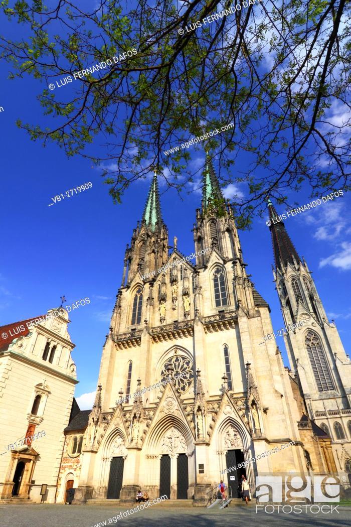 Stock Photo: St Wenceslas cathedral. Olomouc, Moravia, Czech Republic.