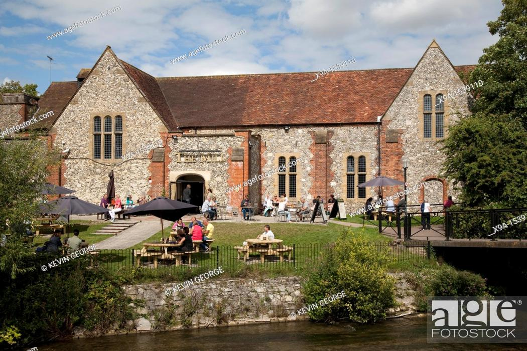 Stock Photo: The Mill Bar and Restaurant, Salisbury, England, UK.