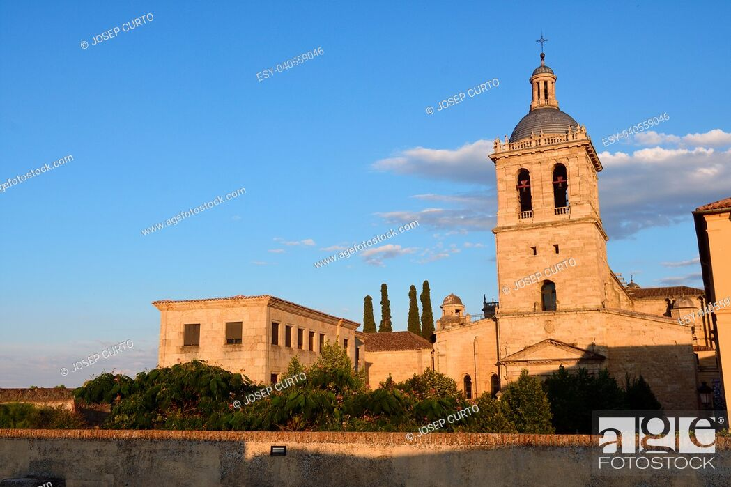 Stock Photo: Santa Maria Cathedral, Ciudad Rodrigo, Salamanca province, Spain.