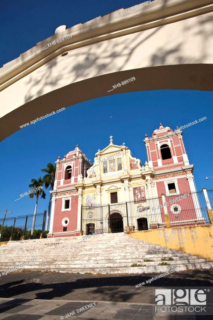 Stock Photo: El Calvario Church, Leon, Nicaragua.
