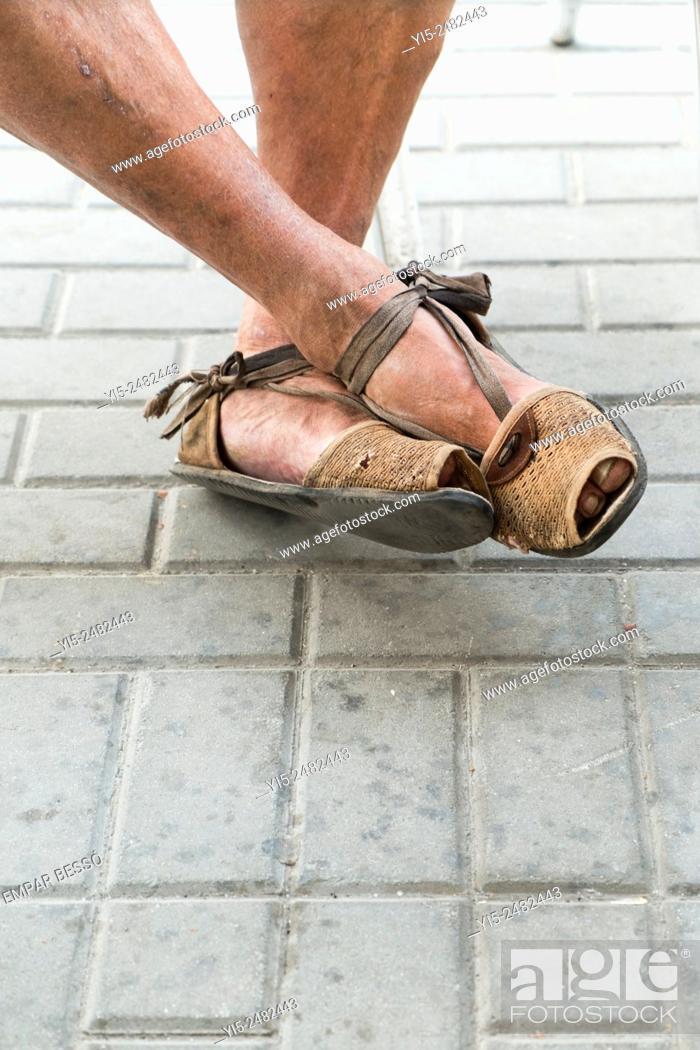 Stock Photo: Espadrilles. Typical valencian footwear. Valencia. Spain.
