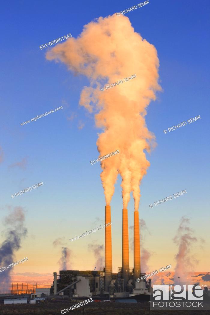 Stock Photo: power plant in Page, Arizona, USA.