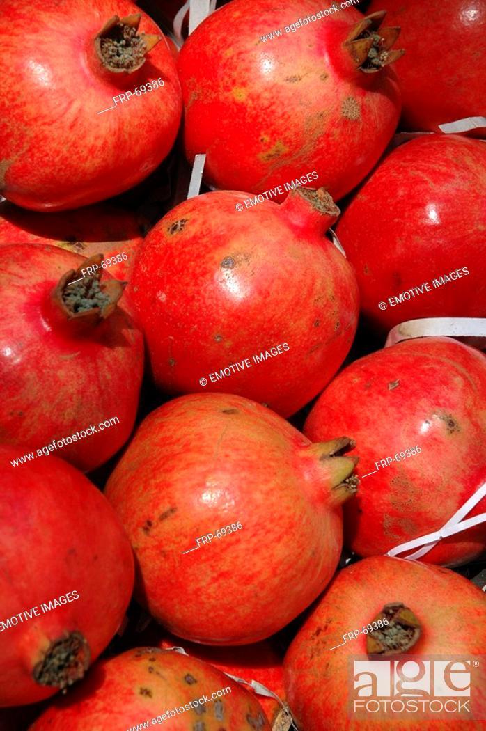 Stock Photo: Pomesgranates.