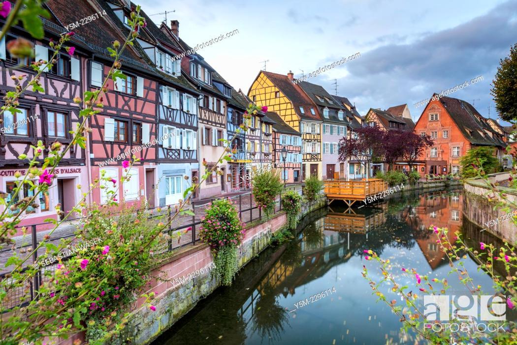 Stock Photo: Petite Venice, Colmar, Alsace, France, Europe.