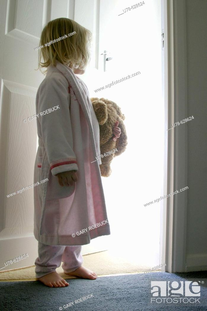 Stock Photo: Little girl looking at magical experience.