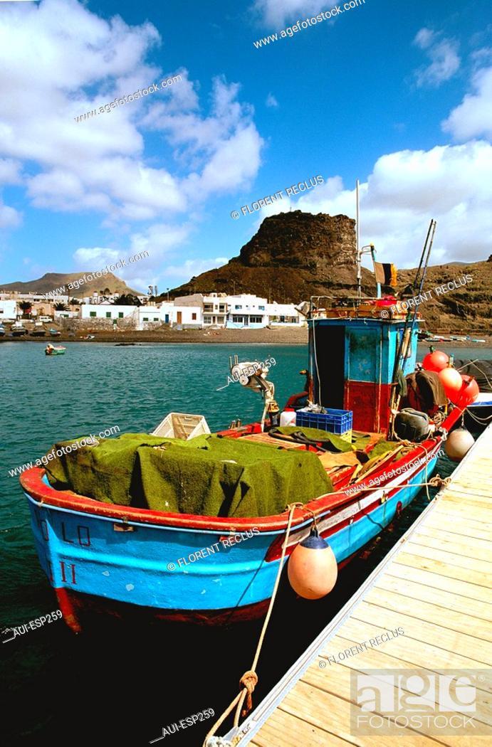 Stock Photo: Spain - Canary Islands - Great Canary - Agaete - Puerto de las Nieves.