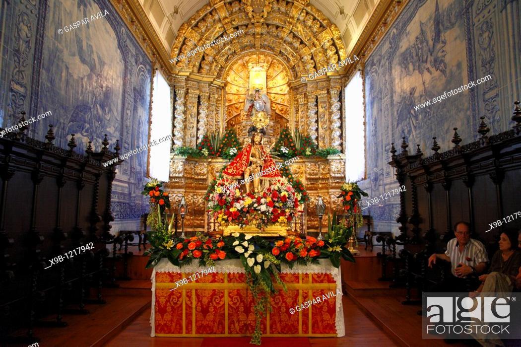 Stock Photo: The image of Senhor Bom Jesus da Pedra inside the church of Sao Miguel Arcanjo, Vila Franca do Campo, Azores islands, Portugal.