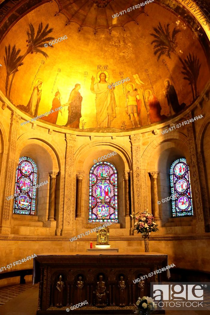 Stock Photo: Saint-Martin d'Ainay Basilica.