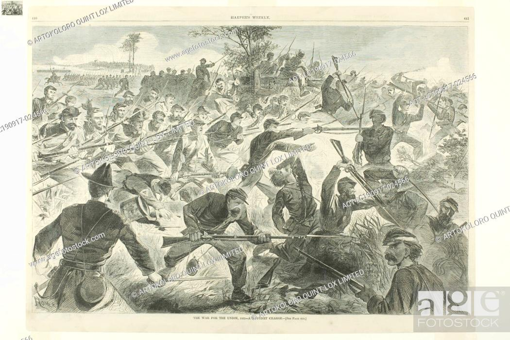 Stock Photo: The War for the Union, 1862—A Bayonet Charge, published July 12, 1862, Winslow Homer (American, 1836-1910), published by Harper's Weekly (American, 1857-1916).
