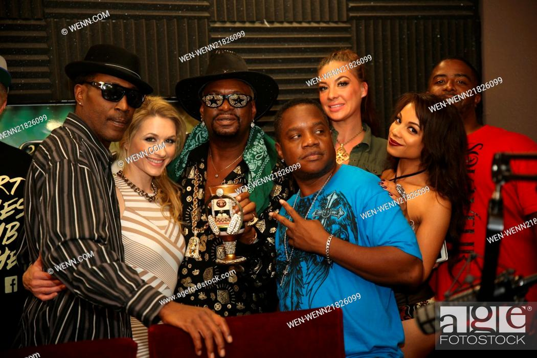 Stock Photo Bishop Don Magic Juan Brought Playboy Tv Host Andrea Lowell Rb Group