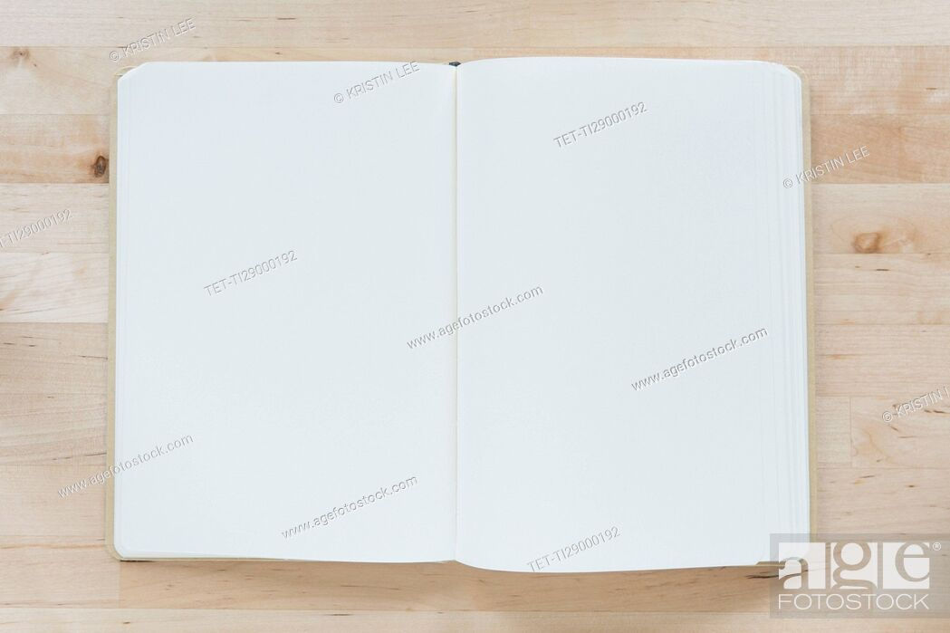 Stock Photo: Overhead view of opened notebooks.