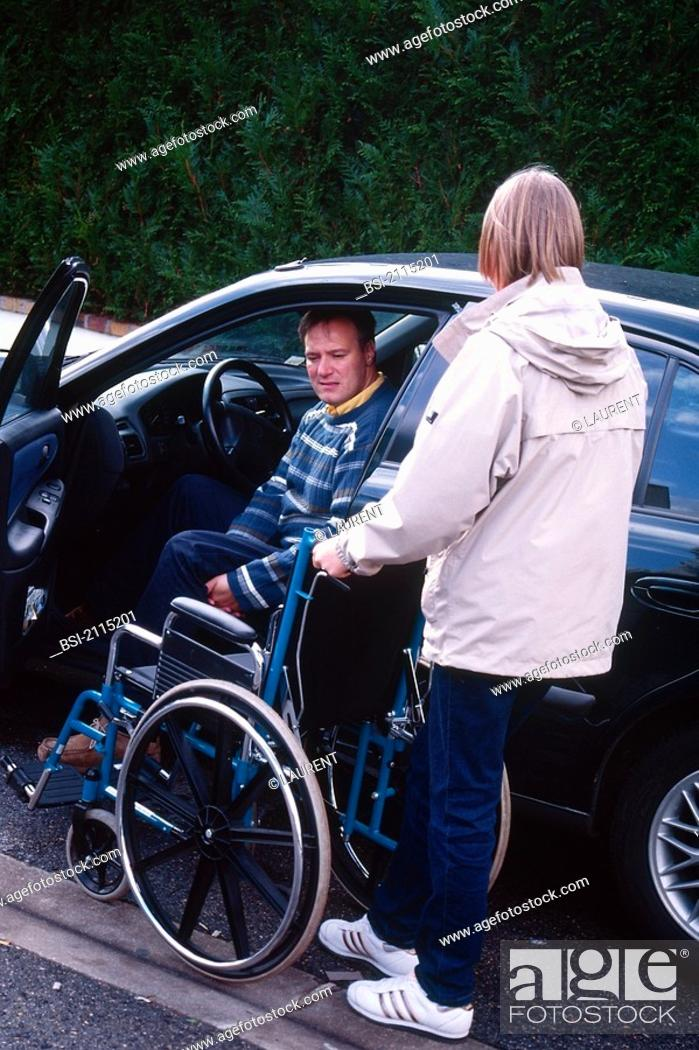Stock Photo: HANDICAPPED PERSON<BR>Models.