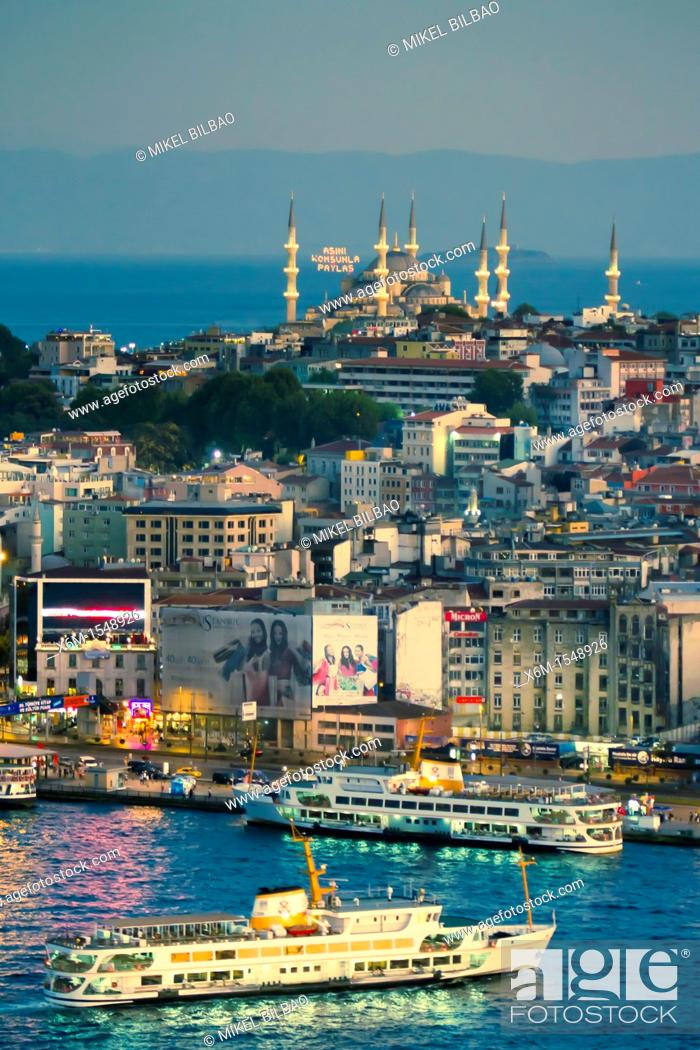 Stock Photo: Golden Horn  Istanbul, Turkey.