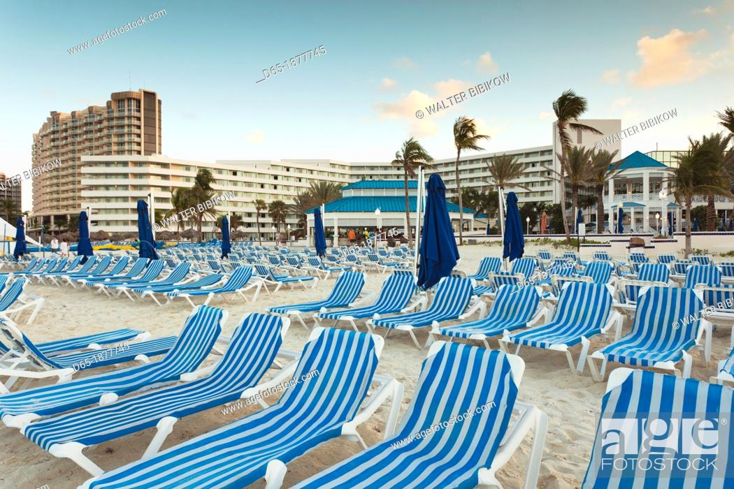 Stock Photo Bahamas New Providence Island Nau Cable Beach Sheraton Resort Dusk
