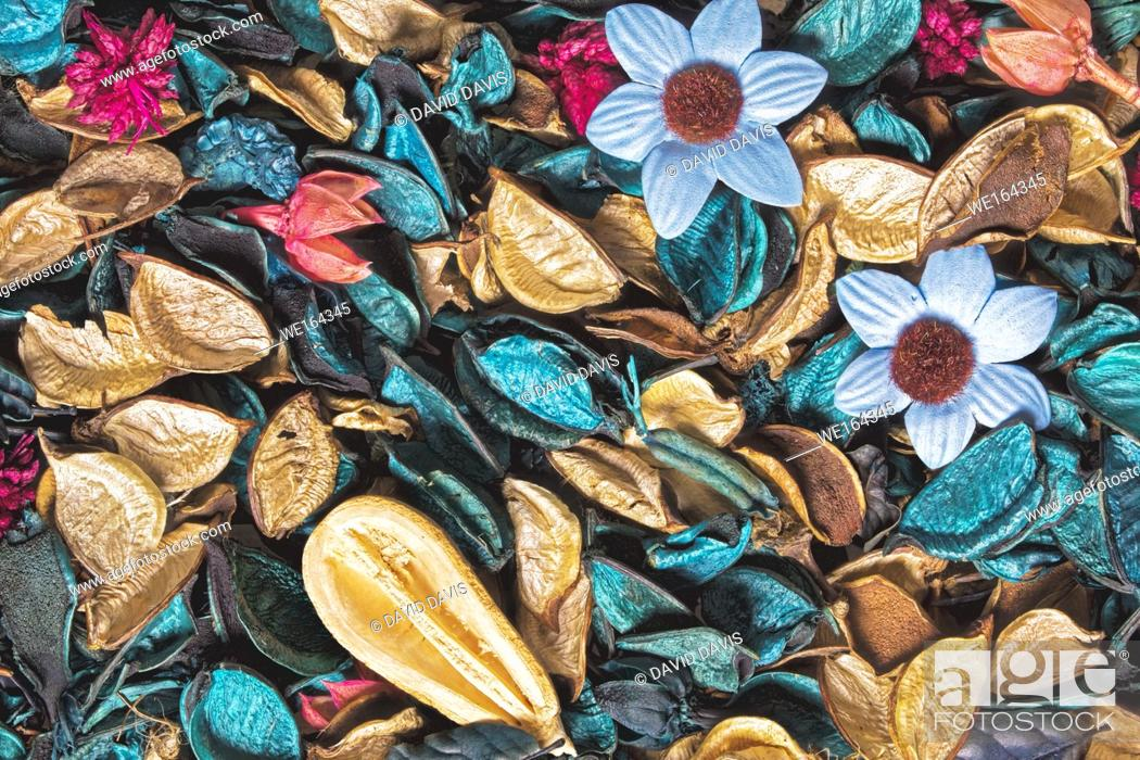 Stock Photo: Beautiful and colorful background of Ocean Scent potpourri.