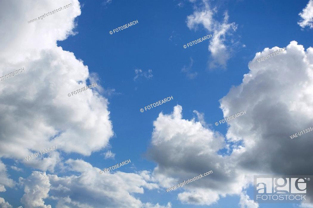 Stock Photo: Blue, Cloud, Day, Fluffy.