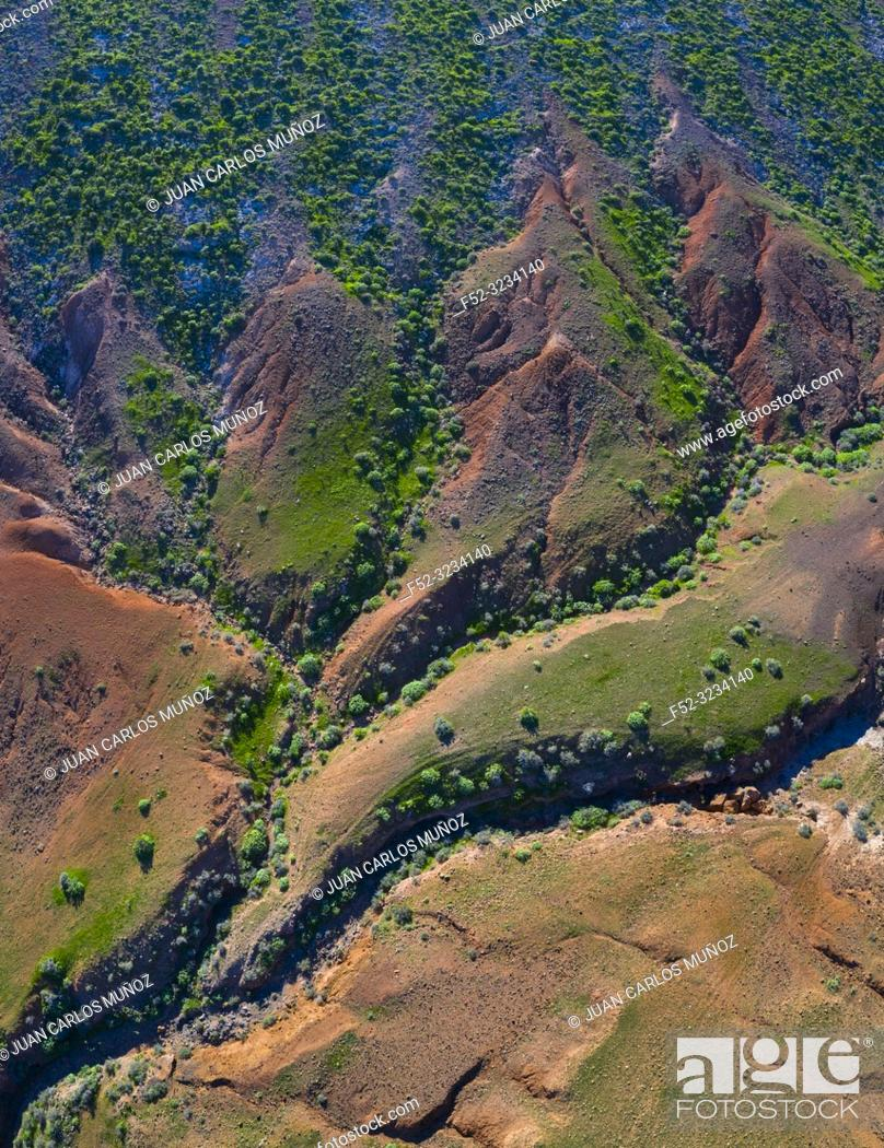 Stock Photo: Eroded landscape, Los Valles, Lanzarote Island, Canary Islands, Spain, Europe.