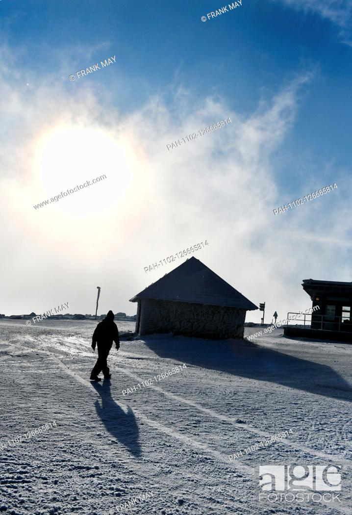 Stock Photo: Winter on the Brocken in the Harz mountains, Germany, near city of Schierke, 14. November 2019. Photo: Frank May | usage worldwide.