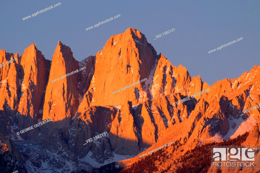 Stock Photo: Mt Whitney, Alabama Hills Recreation Area, Bishop District Bureau of Land Management, CA.