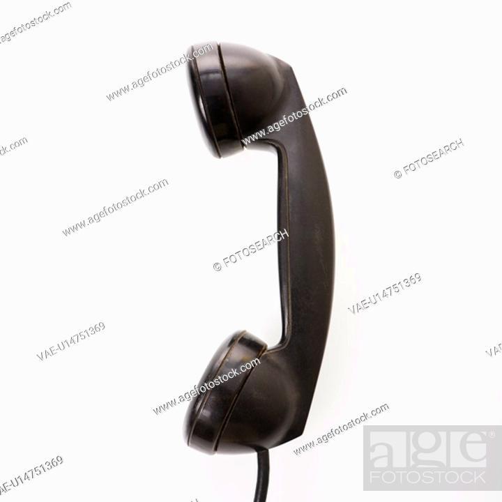 Stock Photo: Receiver of telephone.