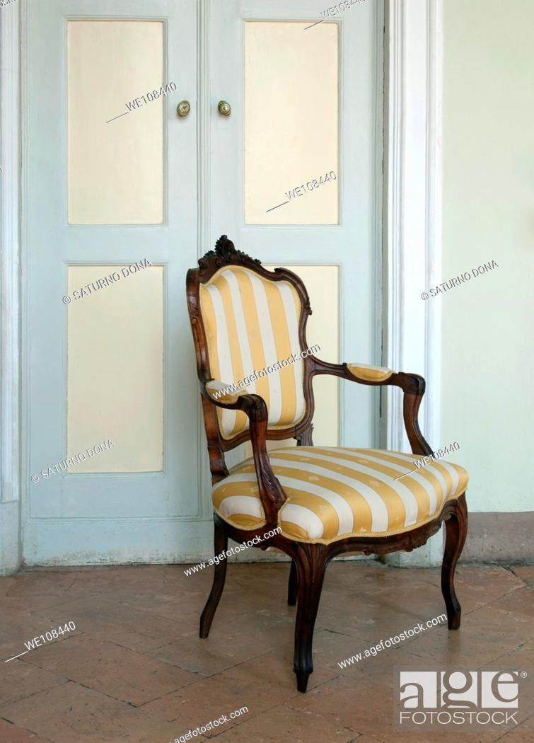 Stock Photo: antique chair.