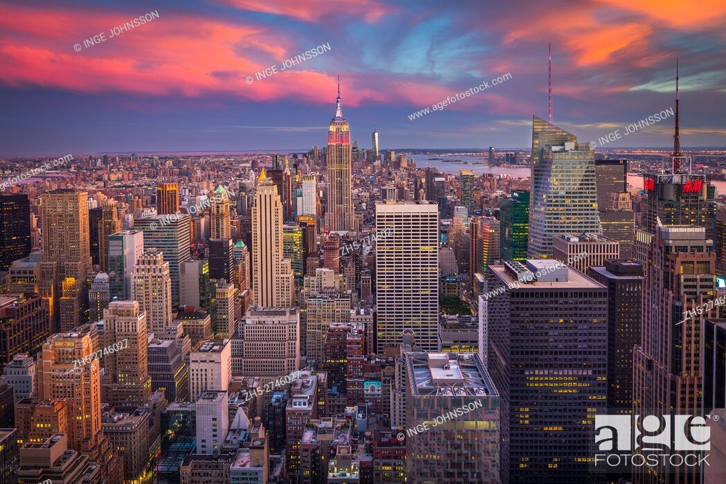 Stock Photo: Manhattan is the most densely populated of the five boroughs of New York City. The borough is coterminous with New York County, founded on November 1.
