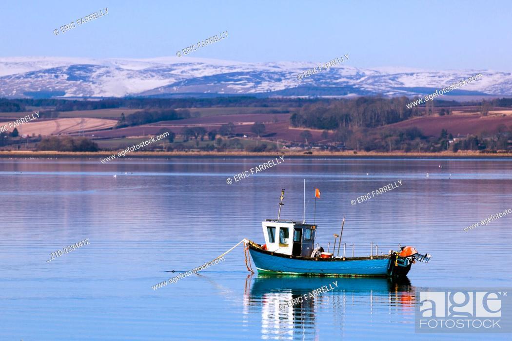 Stock Photo: Early spring. Montrose Basin Angus Scotland UK.