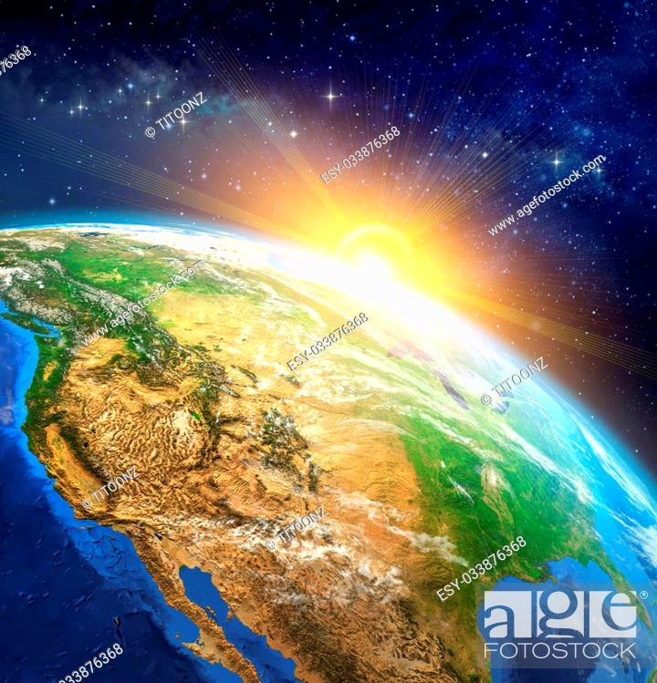 Very High Definition Picture Of Planet Earth In Outer Space With