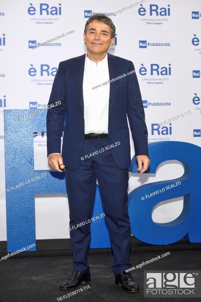 Stock Photo: Duilio Giammaria during the Rai programming launch in Milan, ITALY-09-07-2019.