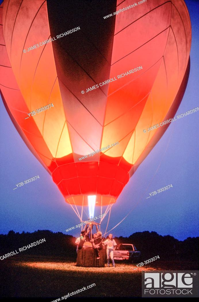 Stock Photo: Moonglow Hot Air Balloon.