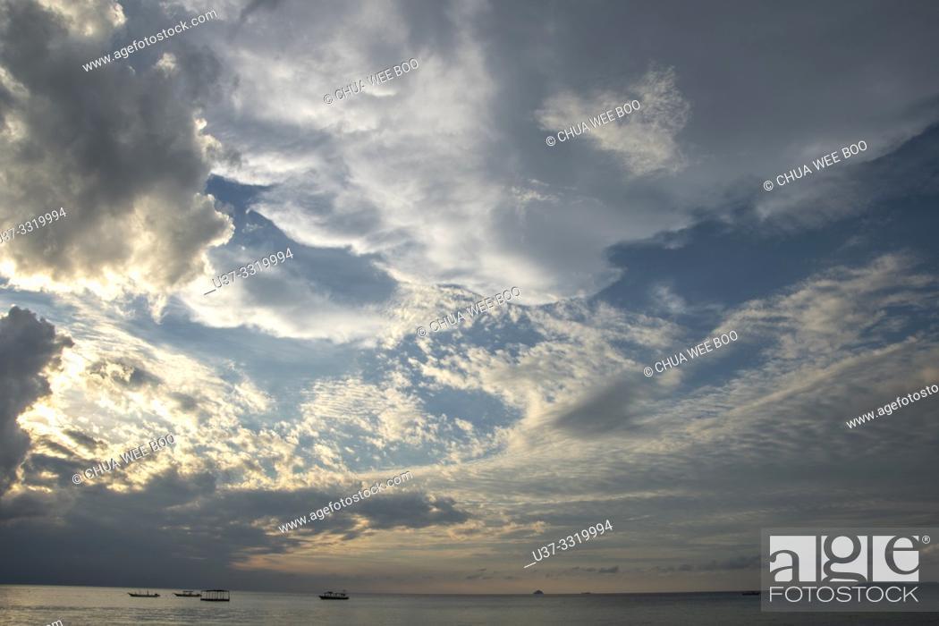 Stock Photo: Stormy weather at Paya Beach, Tioman Island, Malaysia.