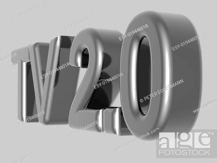 Stock Photo: Background - Thema Kommunikation - TV 2.0 - 3D.